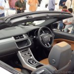 Range Rover Evoque convertible dashboard left side view