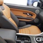 Range Rover Evoque convertible front seat