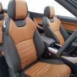 Range Rover Evoque convertible front seats