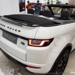 Range Rover Evoque convertible rear three quarters