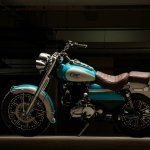Royal Enfield Bullet 350 Cerulean by Eimor Customs left side