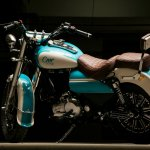Royal Enfield Bullet 350 Cerulean by Eimor Customs rear left quarter