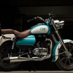 Royal Enfield Bullet 350 Cerulean by Eimor Customs rear right quarter