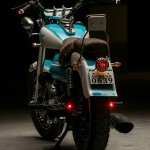 Royal Enfield Bullet 350 Cerulean by Eimor Customs rear