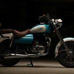 Royal Enfield Bullet 350 Cerulean by Eimor Customs right side
