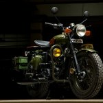 Royal Enfield Electra 'Johnnie' by Eimor customs front right quarter