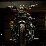 Royal Enfield Electra 'Johnnie' by Eimor customs front