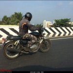 Royal Enfield Interceptor INT 650 spied again post unveil right side