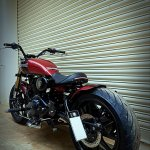 Royal Enfield Thunderbird 500 Sukarno by Bulleteer Customs rear left quarter