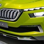Skoda Vision X concept front fascia at 2018 Geneva Motor Show