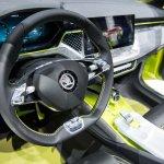 Skoda Vision X concept interior dashboard at 2018 Geneva Motor Show