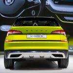 Skoda Vision X concept rear at 2018 Geneva Motor Show
