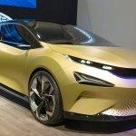 Tata 45X concept front three quarters at 2018 Geneva Motor Show