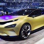 Tata 45X concept front three quarters left side at 2018 Geneva Motor Show