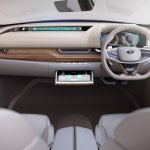Tata EVision concept interior with infotainment system display