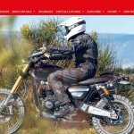 Triumph Bonneville Scrambler 1200 spied left side