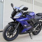 Yamaha YZF-R15 v3.0 track ride review front left quarter