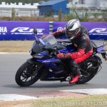 Yamaha YZF-R15 v3.0 track ride review left side action