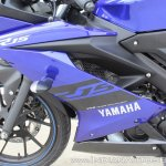 Yamaha YZF-R15 v3.0 track ride review left side fairing