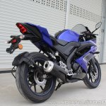 Yamaha YZF-R15 v3.0 track ride review rear right quarter