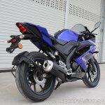 Yamaha YZF-R15 v3.0 track ride review rear right quarter