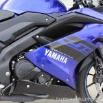 Yamaha YZF-R15 v3.0 track ride review right side fairing
