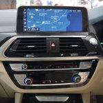 2018 BMW X3 Black Sapphire centre console