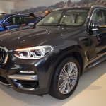 2018 BMW X3 Black Sapphire front three quarters left side