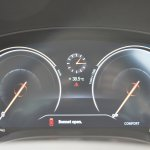 2018 BMW X3 Mineral White digital speedometer and tachometer