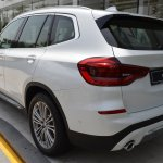 2018 BMW X3 Mineral White rear three quarters