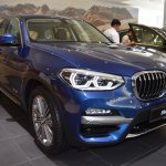 2018 BMW X3 Phytonic Blue front three quarters