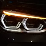 2018 BMW X3 Phytonic Blue headlamp with turn signal on