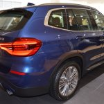 2018 BMW X3 Phytonic Blue rear three quarters