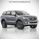 2018 Ford Endeavour : 2018 Ford Everest front three quarter angle rendering