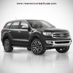 2018 Ford Endeavour : 2018 Ford Everest grey front three quarter angle rendering