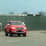 2018 Ford Everest (2018 Ford Endeavour) front three quarters right side spy shot USA