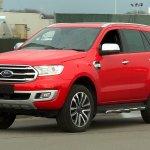 2018 Ford Everest (2018 Ford Endeavour) front three quarters spy shot USA