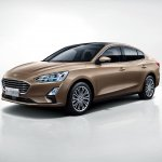 2018 Ford Focus Sedan front three quarters studio image