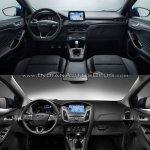 2018 Ford Focus vs 2014 Ford Focus dashboard