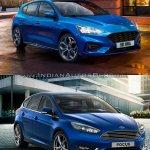 2018 Ford Focus vs 2014 Ford Focus front three quarters
