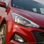 2018 Hyundai i20 facelift review headlight