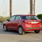 2018 Hyundai i20 facelift review rear angle action
