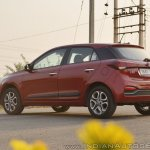 2018 Hyundai i20 facelift review rear angle shot