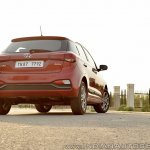 2018 Hyundai i20 facelift review rear angle