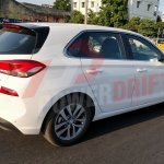 2018 Hyundai i30 spotted testing in India rear angle