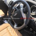 2018 Mahindra XUV500 facelift interior steering wheel