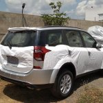 2018 Mahindra XUV500 facelift rear three quarters