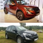 2018 Mahindra XUV500 vs 2015 Mahindra XUV500 front three quarters