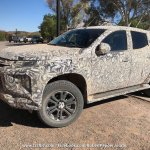 2018 Mitsubishi Triton (facelift) front three quarters left side spy shot