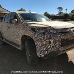 2018 Mitsubishi Triton (facelift) front three quarters spy shot